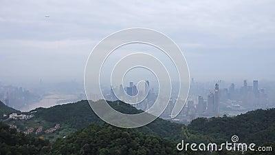 Cidade de negligência da névoa - Chongqing video estoque