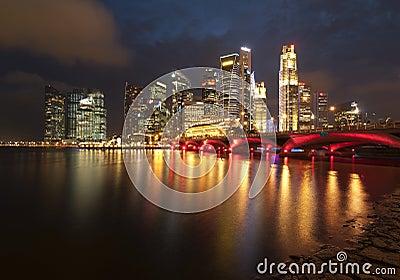 Cidade de Singapore Imagem Editorial