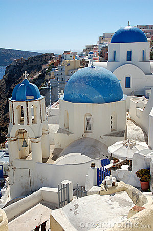 Cidade grega pitoresca do console