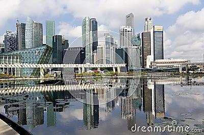 Cidade maravilhosa de Singapore Fotografia Editorial