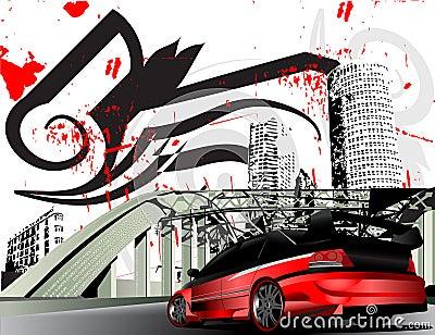Cidade personalizada do grunge da evolução de mitsubishi