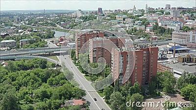 Cidades Penza Rússia Penza do ar no verão Penza, R?ssia vídeos de arquivo