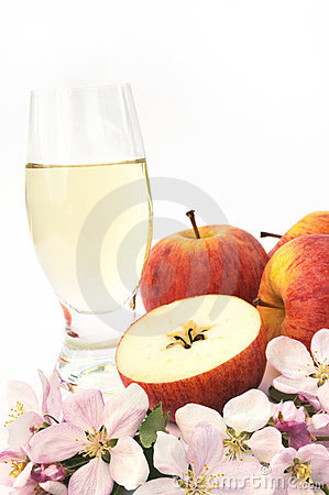 Cider and apple - still-life