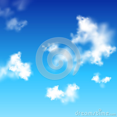 Ciel bleu clair de vecteur avec les nuages blancs photo libre de droits ima - Image ciel bleu clair ...