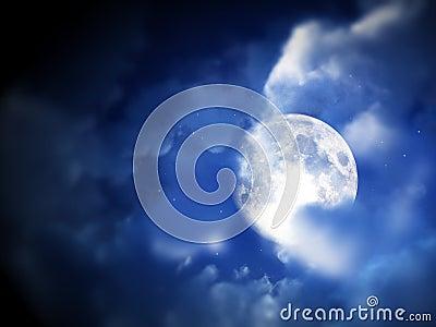 Ciel de nuit de lune 5
