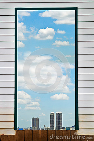 Cielo en la ventana