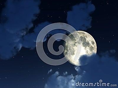 Cielo nocturno 4 de la luna
