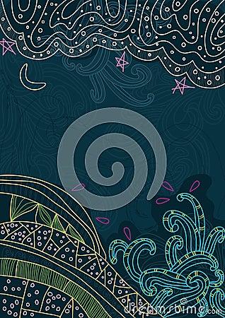 Cielo y pista abstractos