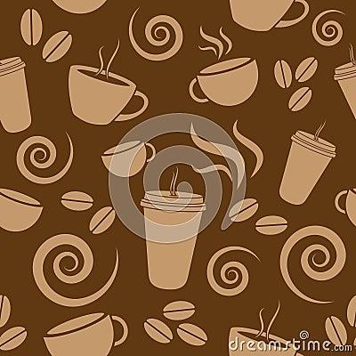 Ciemny Brown Kawy Wzór