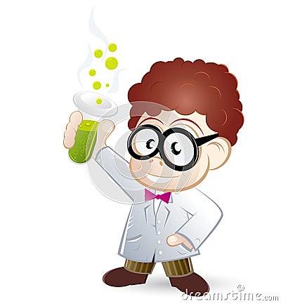 Cientista dos desenhos animados