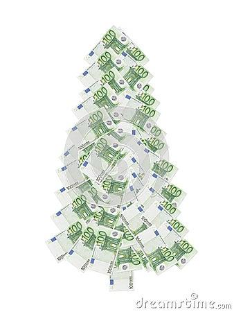 Cientos árboles de Navidad del euro