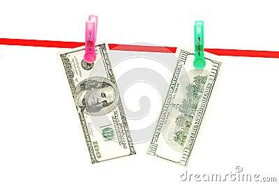Cientos billetes de banco del dólar
