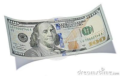 Cientos billetes de dólar