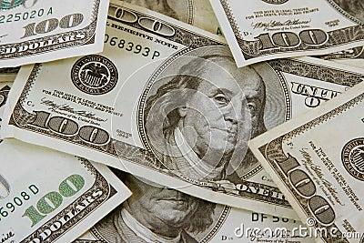 Cientos cuentas de dólar