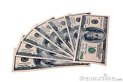 Cientos dólares de cuentas