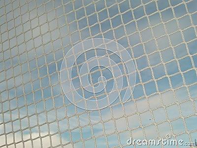 Cierre blanco de la red para arriba