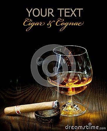 Free Cigar And Cognac Royalty Free Stock Photos - 15609998