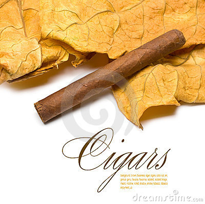 Free Cigar And Leaf Royalty Free Stock Images - 23365259