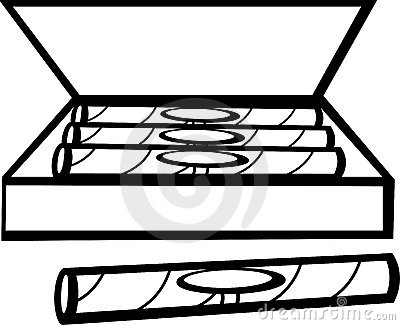 Cigar box vector illustration