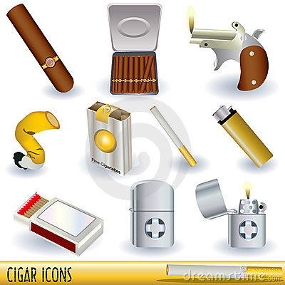 Free Cigar Icons Royalty Free Stock Photos - 14019988