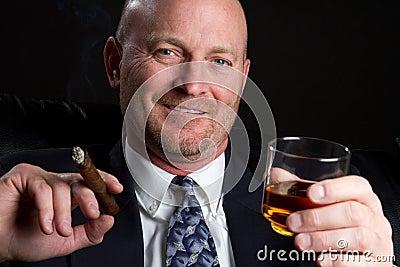 Cigar Man Drinking