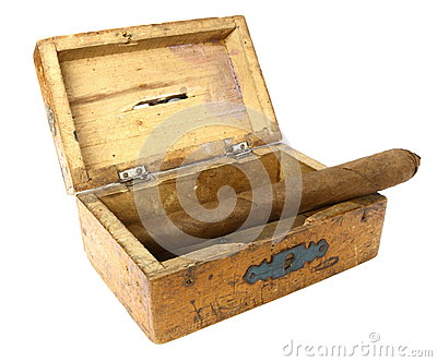 Cigar in old box