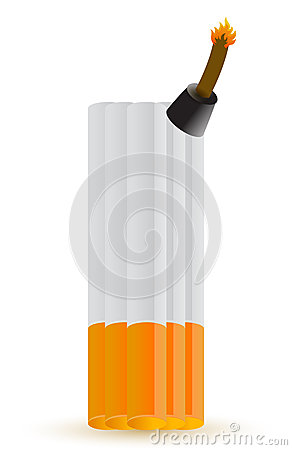 Cigarette bomb illustration design