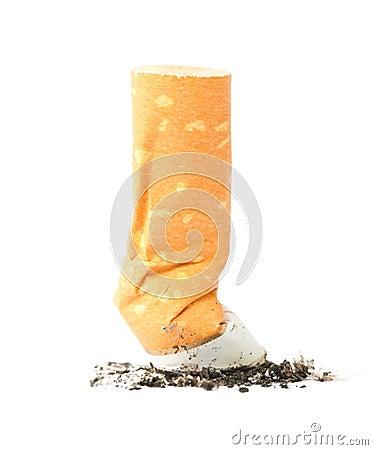 Cigarette with ash
