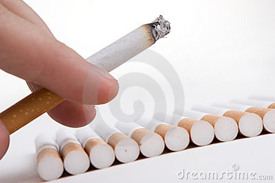 Cigarette in a fingers