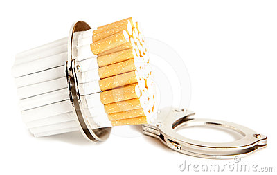 Cigarette  and  handcuffs