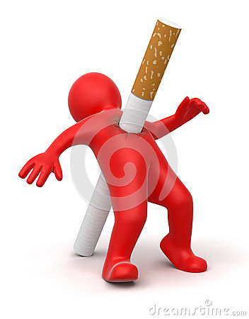 Cigarette kills man (clipping path included)