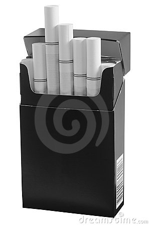 Cigarette pack. Isolated