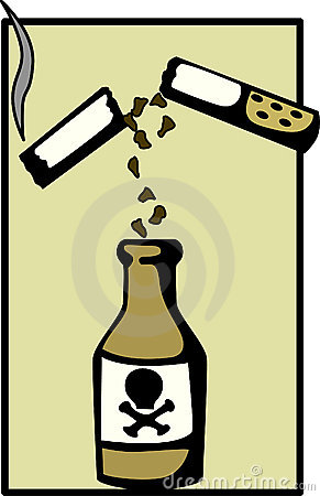 Cigarette poison vector illustration