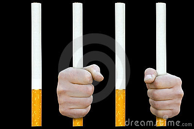In cigarette prison