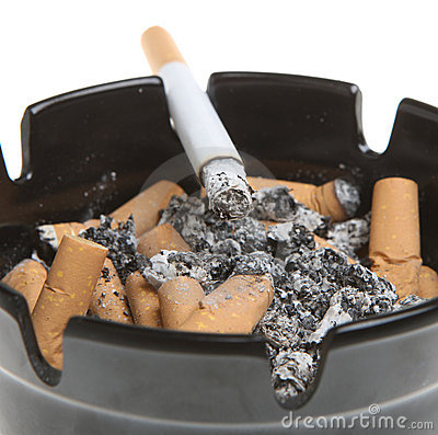 Cigarette Smoking in Ashtray