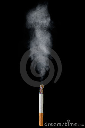 Free Cigarette With Deadly Smoke Stock Image - 18903841