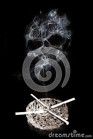 Free Cigarettes And Skull Shape Smok Stock Photography - 15026202