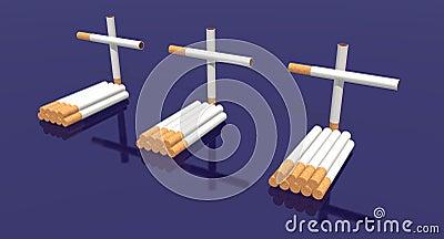 Cigarettes cemetery