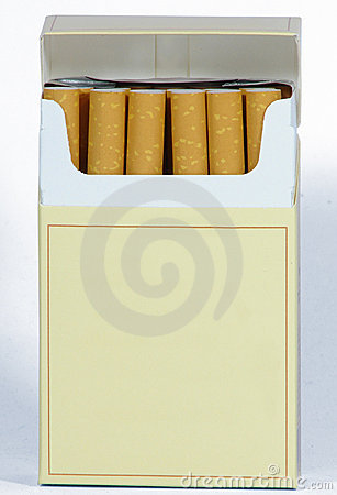 CIGARETTES pack blank