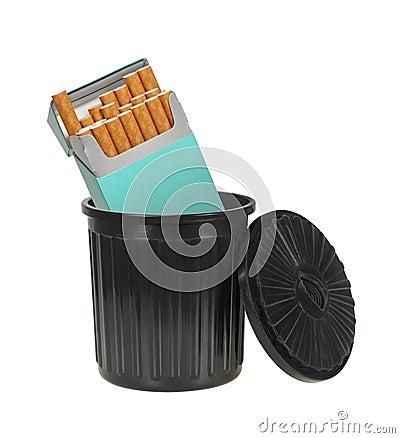 Cigarettes Trashed