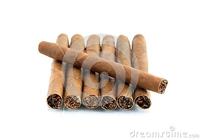 Cigars On White