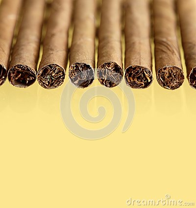 Cigars On Yellow