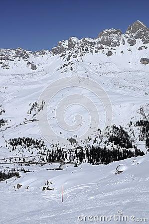 Cima uomo ski run, col margherita