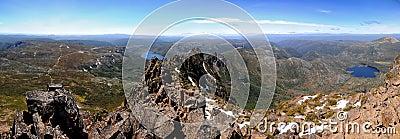 Cimeira Tasmânia da montanha do berço