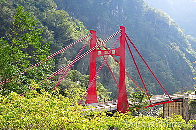 Cimu bridge in Taroko National Park