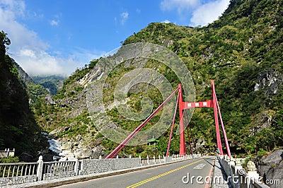 Cimu bridge in Taroko National Park