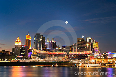 Cincinnati, Ohio At Night