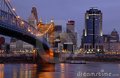 Cincinnati, Ohio Skyline.
