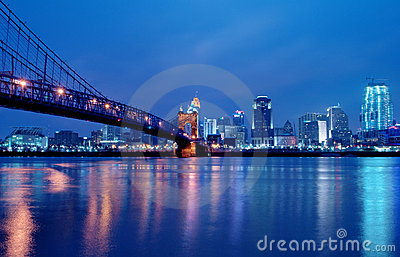 Cincinnati Ohio Skyline at Night