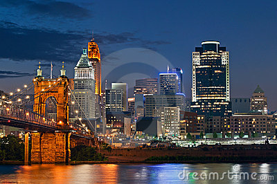Cincinnati skyline .
